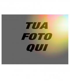 Filtro Foto di luci colorate arancioni da applicare alle vostre foto