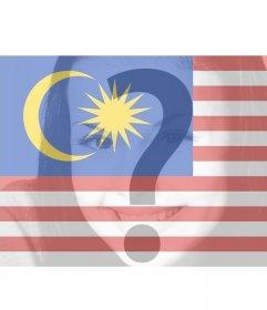 Filtro virtuale per aggiungere le vostre foto della bandiera Malesia