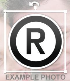 Emoji del simbolo del marchio è possibile aggiungere come adesivo per le immagini con il nostro editor di immagini on-line