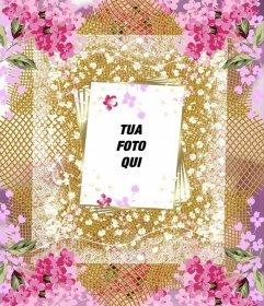Telaio con molti fiori per decorare le tue foto online