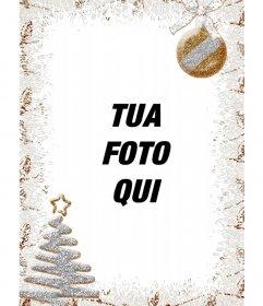 Decorazione verticale di Natale per le foto con un albero