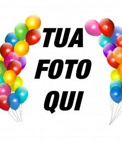 Palloncini colorati per decorare le vostre foto come un quadro e leffetto Foto