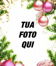 Telaio verticale per le foto di personalizzare con decorazioni di Natale