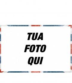 Cornice per foto con uno stile grunge bandiera del Regno Unito per decorare le vostre foto online