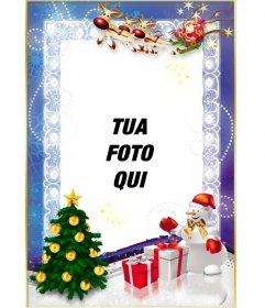 Modello Free Christmas per personalizzare con la tua foto on line