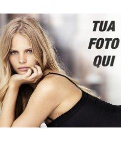 Fotomontaggio con Marloes Horst a mettere la tua foto accanto ad essa