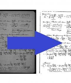 Effetto di ottimizzare le note acquisite migliorare il contrasto e la leggibilità.