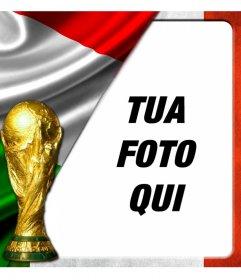 Montage per la bandiera italiana a mettere con una foto di voi