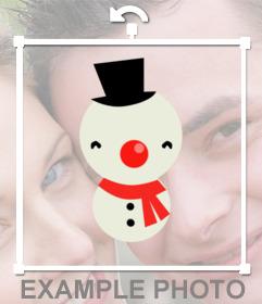 Adesivo pupazzo di neve Online per decorare le vostre foto di Natale