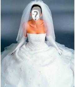 Vesti la sposa in abito bianco con questo fotomontaggio