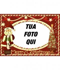 Cartolina di Natale con Babbo Natale a mettere la tua foto
