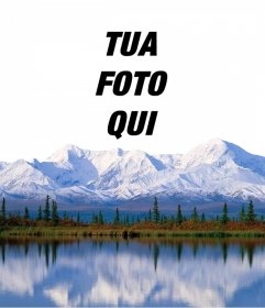 Aggiungi la tua foto su una montagna innevata con questo effetto in linea