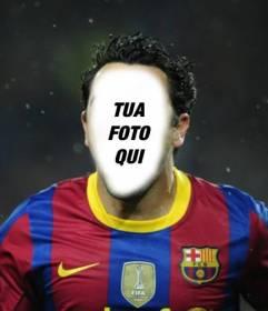 Fotomontaggio di calcio per mettere la vostra faccia in un giocatore Barca