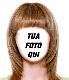 Cambiare i capelli a marrone chiaro e breve con questo fotomontaggio di modificare effetto