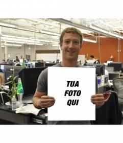 Fotomontaggio con Mark Zuckerberg di Facebook con una foto di voi