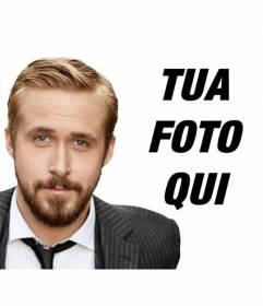 """Fotomontaggio con la barba Ryan Gosling. Creare una foto ritratto con Ryan Gosling, portagonista di """"The Notebook"""""""