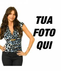 """Fotomontaggio con Sofia Vergara di Modern Family TV Show. Ora si può apparire in una foto con l""""attrice e modella colombiana considerata una delle donne più sexy del mondo"""
