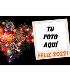 Cornice per foto del nuovo anno 2018 con una polaroid