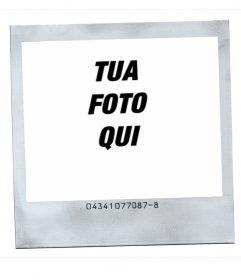 Stile della cornice Polaroid foto con sfondo bianco
