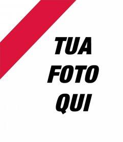 Polonia bandiera su un angolo della vostra foto per decorare fotomontaggio in linea
