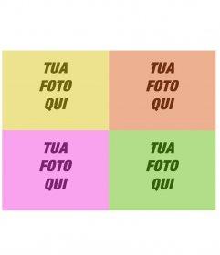 """Installazioni d""""arte Pop di vari colori. La tua foto apparirà quadruplicato in giallo, rosso, magenta e verde. Crea la tua propria immagine"""