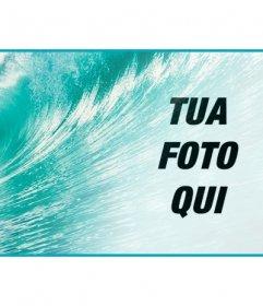 Decora il tuo profilo di Facebook con una copertina personalizzata con la tua foto e lazzurro del mare con una grande onda