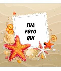 Personalizza il tuo avatar con uno sfondo di spiaggia con stelle marine estate per Facebook e Twitter