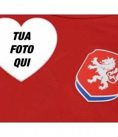 Supporta la squadra di calcio della Repubblica Ceca con questo fotomontaggio modificabile