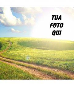 Paesaggio rurale che è possibile modificare per mettere la vostra foto al sole ed è gratuita