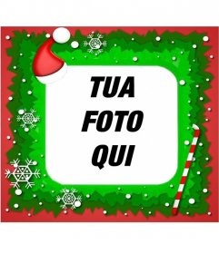 Stampaggio di Natale per le vostre immagini con un cappello di Babbo Natale