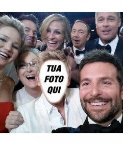 Fotomontaggio del celebre selfie degli Oscar a che fare con la tua foto