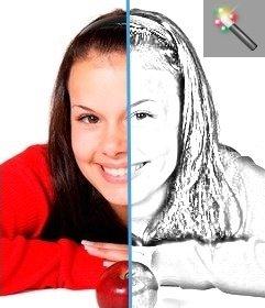 Stile in linea effetto disegno a matita per convertire le vostre foto