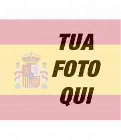 Fotomontaggio di mettere la bandiera della Spagna nella foto che è possibile utilizzare nella vostra immagine del profilo