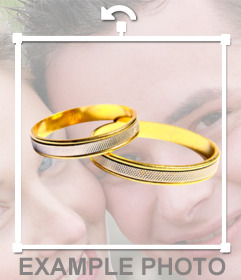 gli anelli di nozze mettere nella vostra foto con questo