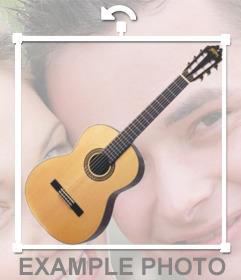 Aggiungere una chitarra spagnola alle tue foto con questo adesivo