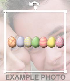 Uova decorative per celebrare la Pasqua con questo adesivo gratuito