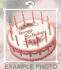 Sticker on-line di una torta di compleanno per inserire nelle immagini