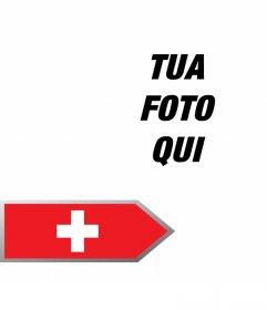 Aggiungere una freccia con la bandiera della Svizzera nel libero di modificarla