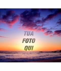 Montaggio a che fare con la tua foto tramonto colorato, dove la gamma dei colori varia a seconda della temperatura. Va dal viola al giallo al viola e naranja.