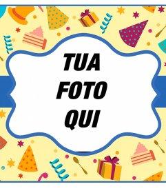 Colorful cartolina on line per una festa di compleanno