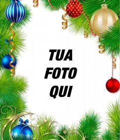Corona di Natale per decorare la tua foto