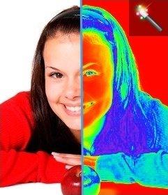 """Photo Filter effetto termografia, rende l""""immagine termica delle immagini caricate"""
