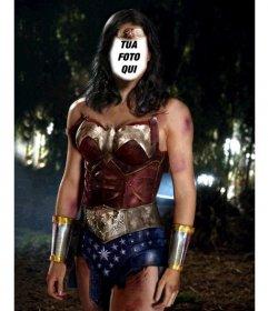 Fotomontaggio di diventare in Wonder Woman caricare la tua foto