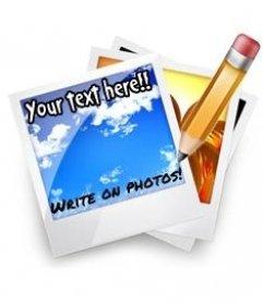 Scrivi sulla foto online. Aggiungere testo sulla foto.