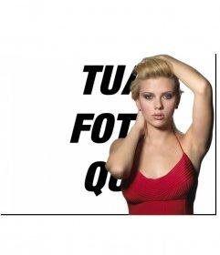 "Photo effetto, insieme a Scarlett Johansson, l""attrice di Hollywood"