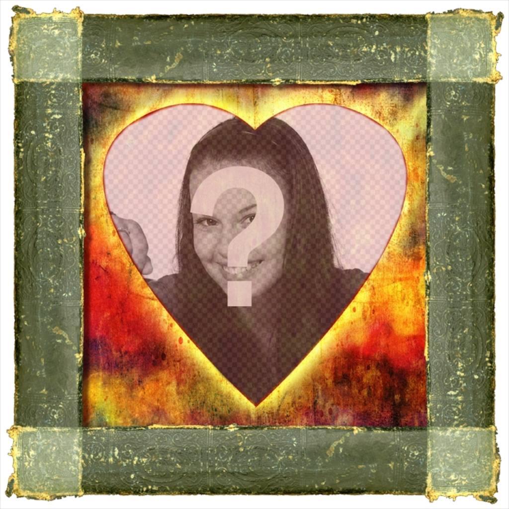 Stile a forma di cuore cornice con ferro arrugginito for Crea il tuo avatar arreda le tue stanze