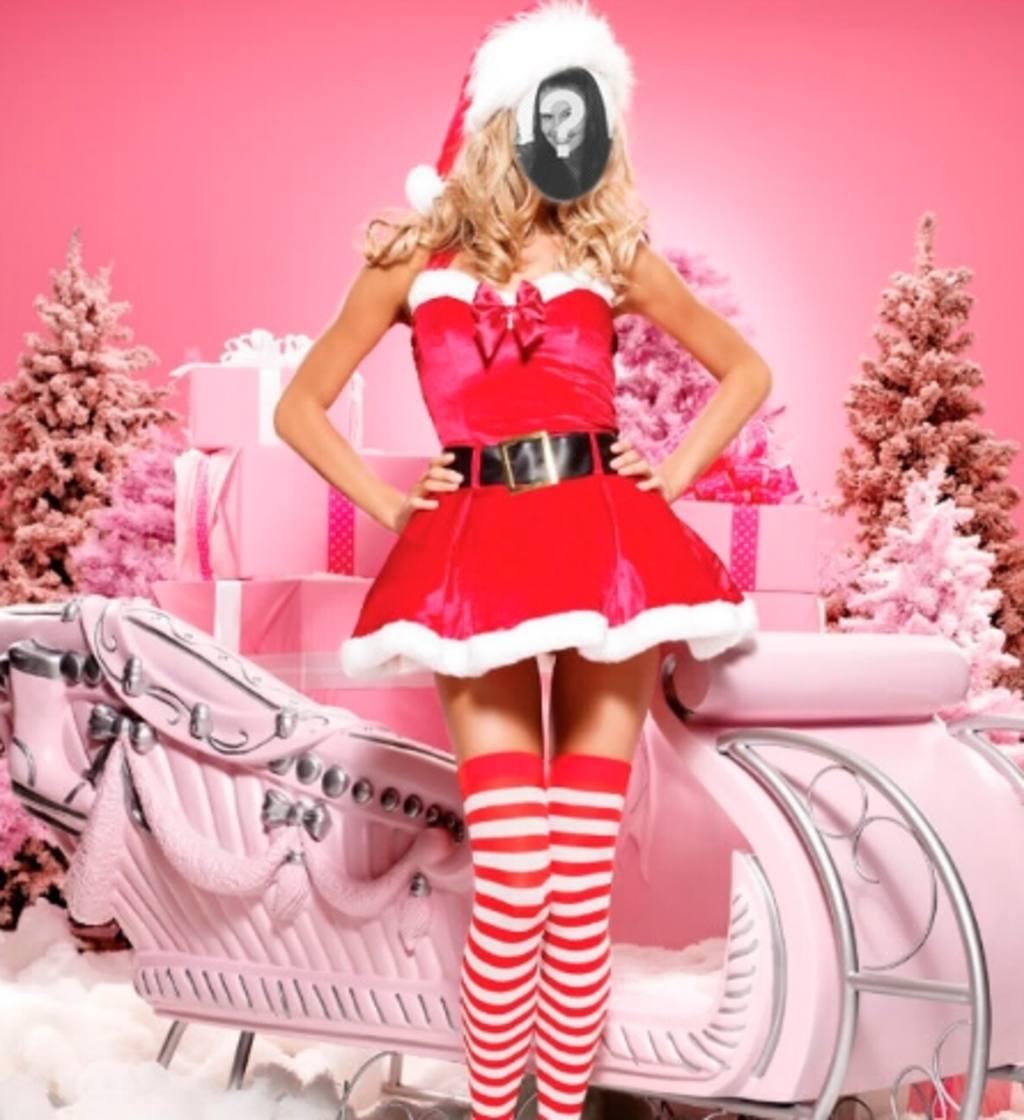 Fotomontaggio di Mama Noel per fare online