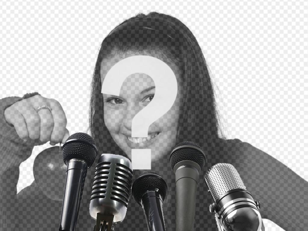 Creare un collage utilizzando questa immagine con un microfono