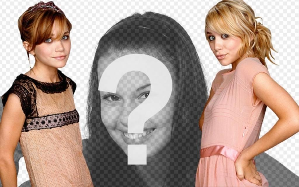 Fotomontaggio con le gemelle olsen mary kate e ashley appaiono in una fotoeffetti - Gemelli diversi mary testo ...