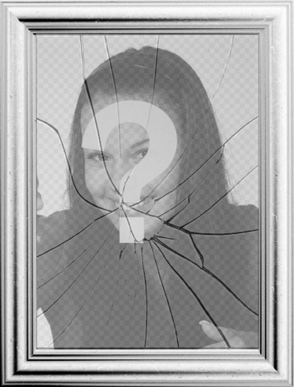 Cornice digitale l immagine si rifletter in uno specchio - Specchio rotto sfortuna ...